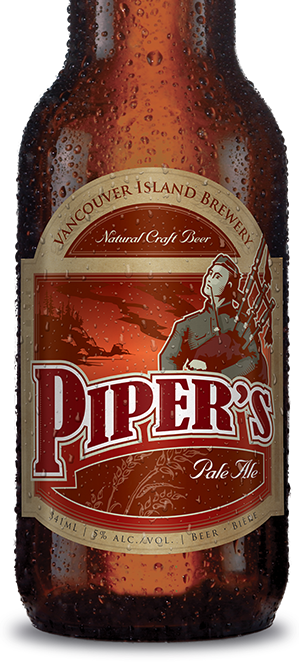 Pipers Pale Ale honours Piper Richardson's war heroics. A light amber ale with a great taste