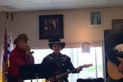 JC Faubert and the gang perform during the Eagles Sunday Music Jam