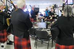 The Castle Cary Pipes and Drums perform at the Eagles Club on Remembrance Day each year.